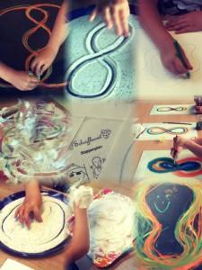 Kunstzinnig therapeutische training voor kinderen die schrijven moeilijk vinden.