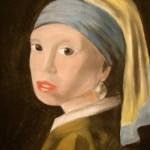 Portret met pastel
