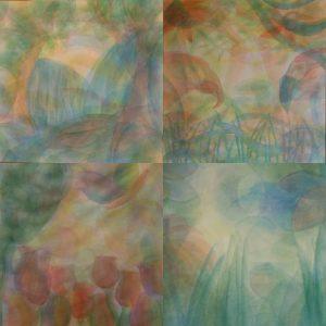 Sluieren, bijzondere aquareltechniek